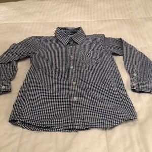 Boy's plaid shirt.